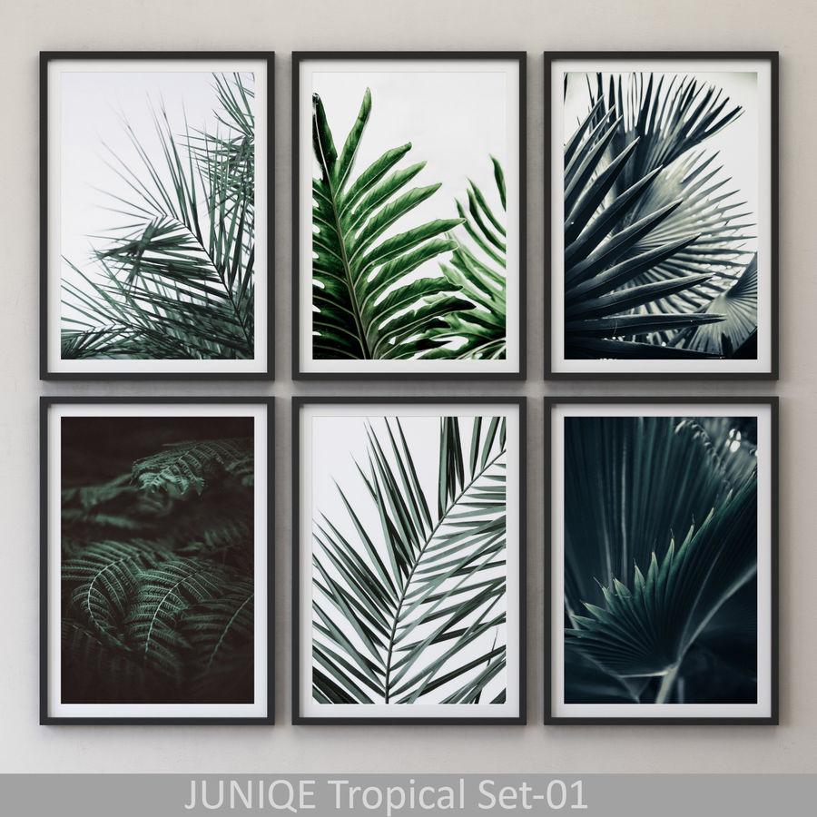 JUNIQE Tropical Set-01 Framed royalty-free 3d model - Preview no. 1
