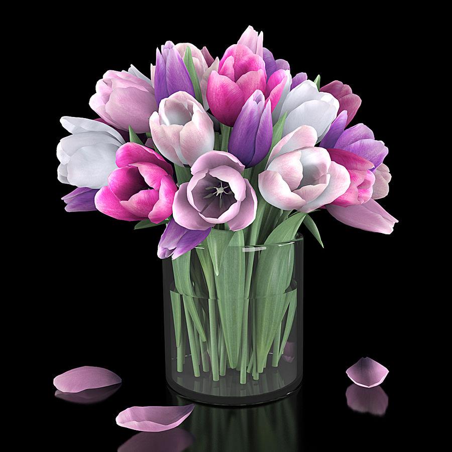 Fleurs de tulipe royalty-free 3d model - Preview no. 2