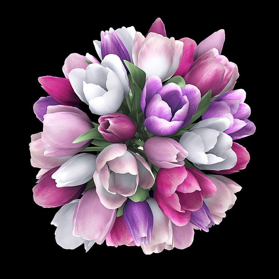 Fleurs de tulipe royalty-free 3d model - Preview no. 4