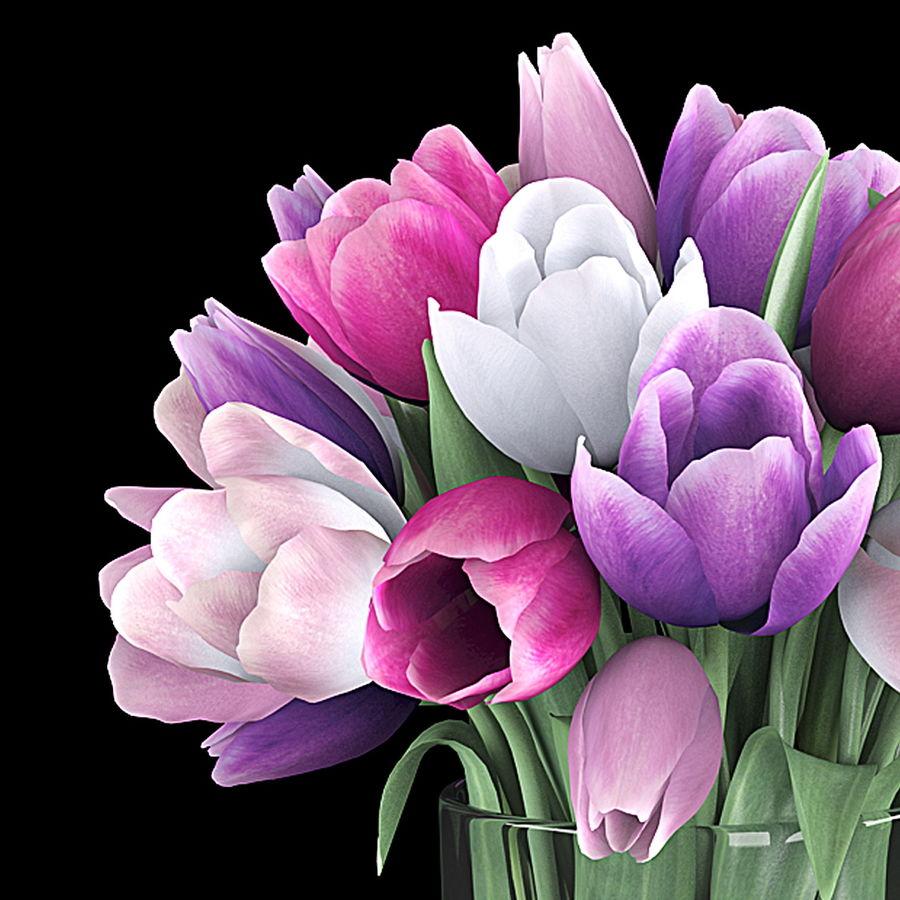 Fleurs de tulipe royalty-free 3d model - Preview no. 3