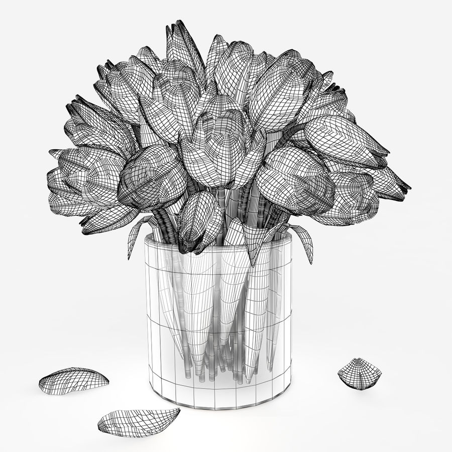 Fleurs de tulipe royalty-free 3d model - Preview no. 5
