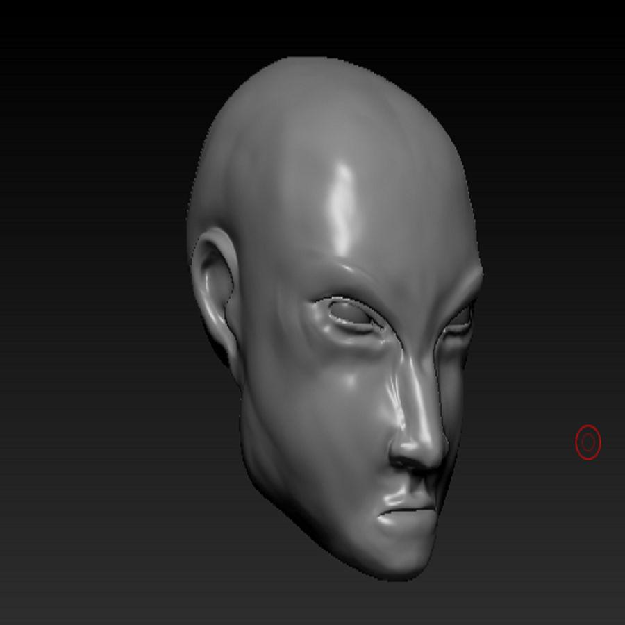 キャラクターの頭 royalty-free 3d model - Preview no. 4