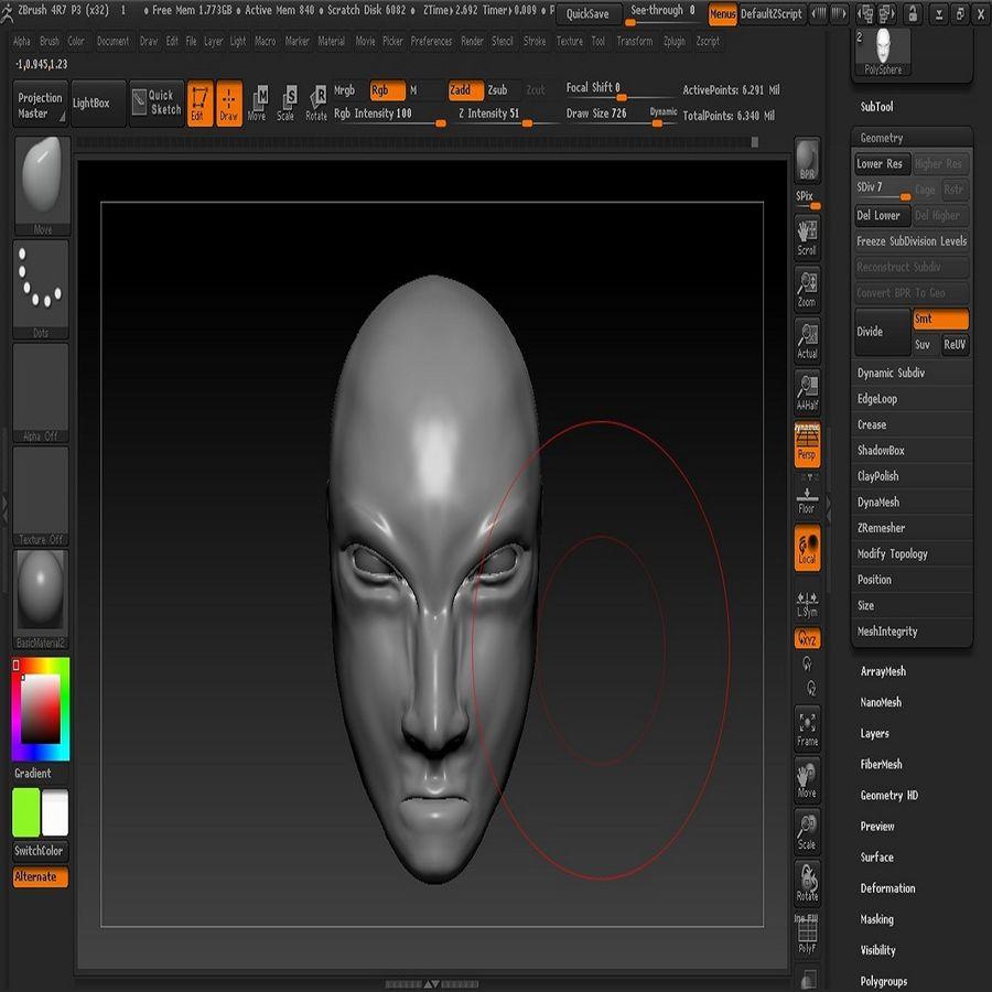 キャラクターの頭 royalty-free 3d model - Preview no. 3