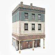 Detaljerad lägenhet hus 3d model