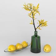 Elma ile dekoratif seti 3d model