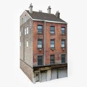 Lägenhet byggnad tegel 3d model