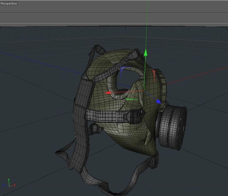 ガスマスク royalty-free 3d model - Preview no. 9