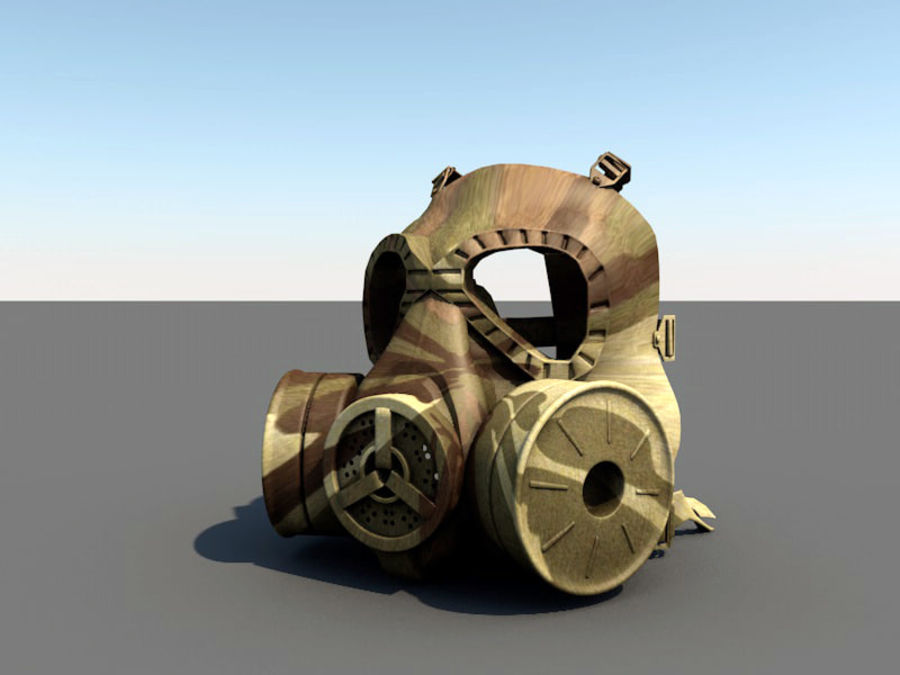 ガスマスク royalty-free 3d model - Preview no. 7