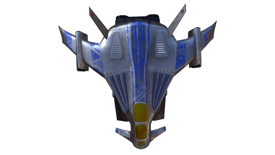 scifi fighter royalty-free 3d model - Preview no. 9
