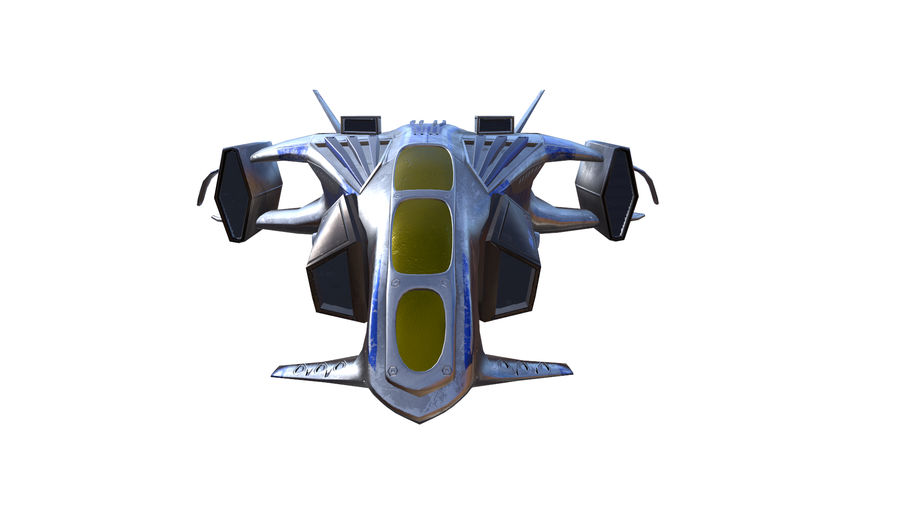 scifi fighter royalty-free 3d model - Preview no. 1