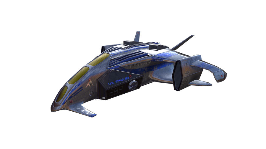 scifi fighter royalty-free 3d model - Preview no. 3