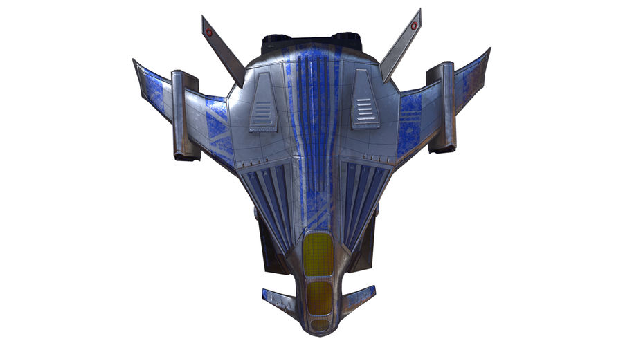 scifi fighter royalty-free 3d model - Preview no. 10