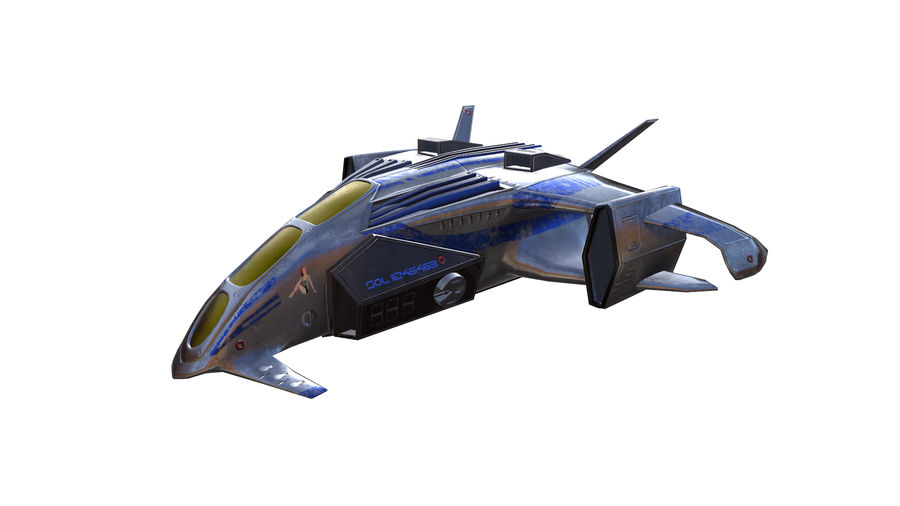 scifi fighter royalty-free 3d model - Preview no. 4