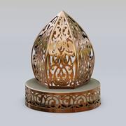 传统的摩洛哥图案灯笼 3d model