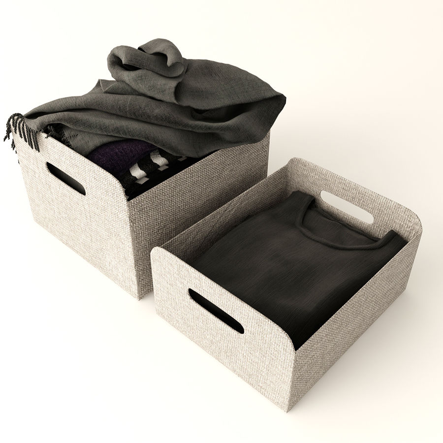 Коробка вещей royalty-free 3d model - Preview no. 3