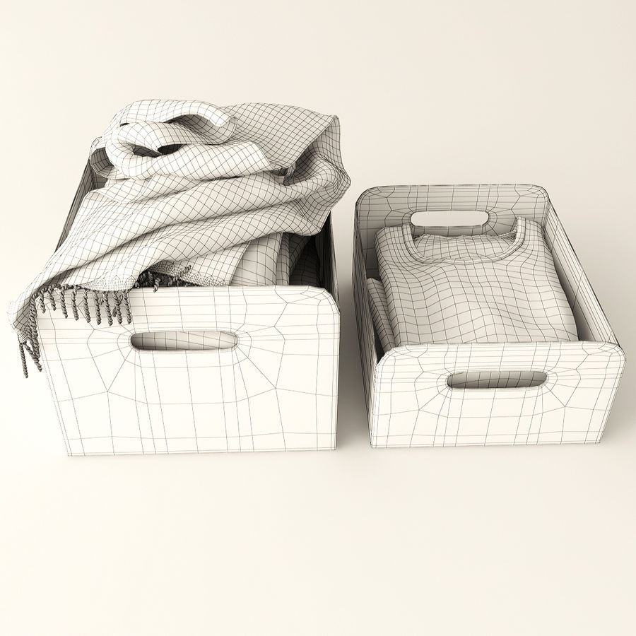 Коробка вещей royalty-free 3d model - Preview no. 8