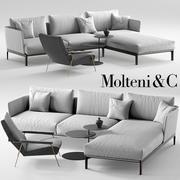Molteni Chelsea kanepe, Molteni d153 koltuk 3d model