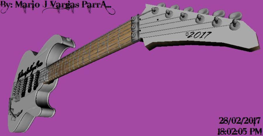 Guitarra Elctrica Metalk royalty-free 3d model - Preview no. 5
