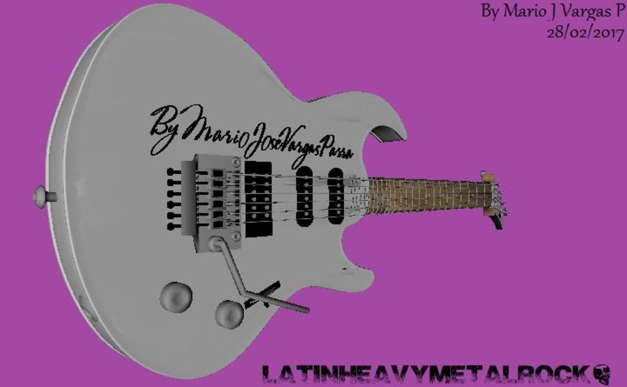Guitarra Elctrica Metalk royalty-free 3d model - Preview no. 4