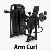 Technogym - SP Arm Curl 3d model