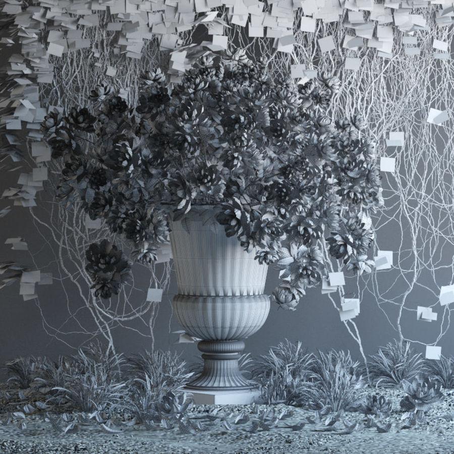Flores exteriores royalty-free 3d model - Preview no. 5