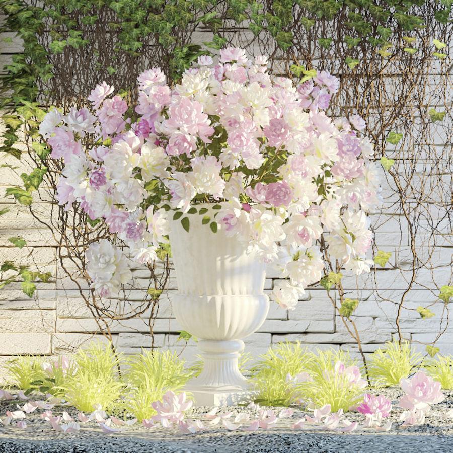 Flores exteriores royalty-free 3d model - Preview no. 1
