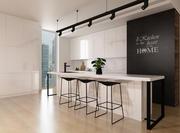 Cocina interior modelo 3d