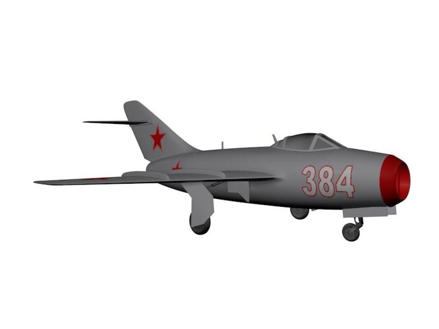 Mig 15 Fagot royalty-free 3d model - Preview no. 7