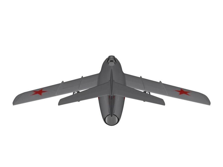 Mig 15 Fagot royalty-free 3d model - Preview no. 5