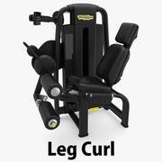 Technogym - SP Leg Curl 3d model