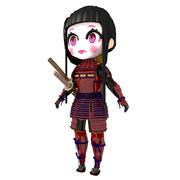Geisha Samurai 3d model