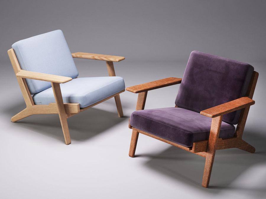 Cadeira de prancha de Hans Wegner royalty-free 3d model - Preview no. 1