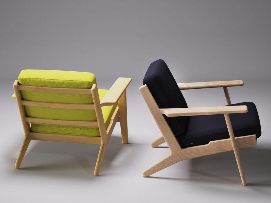 Cadeira de prancha de Hans Wegner royalty-free 3d model - Preview no. 3