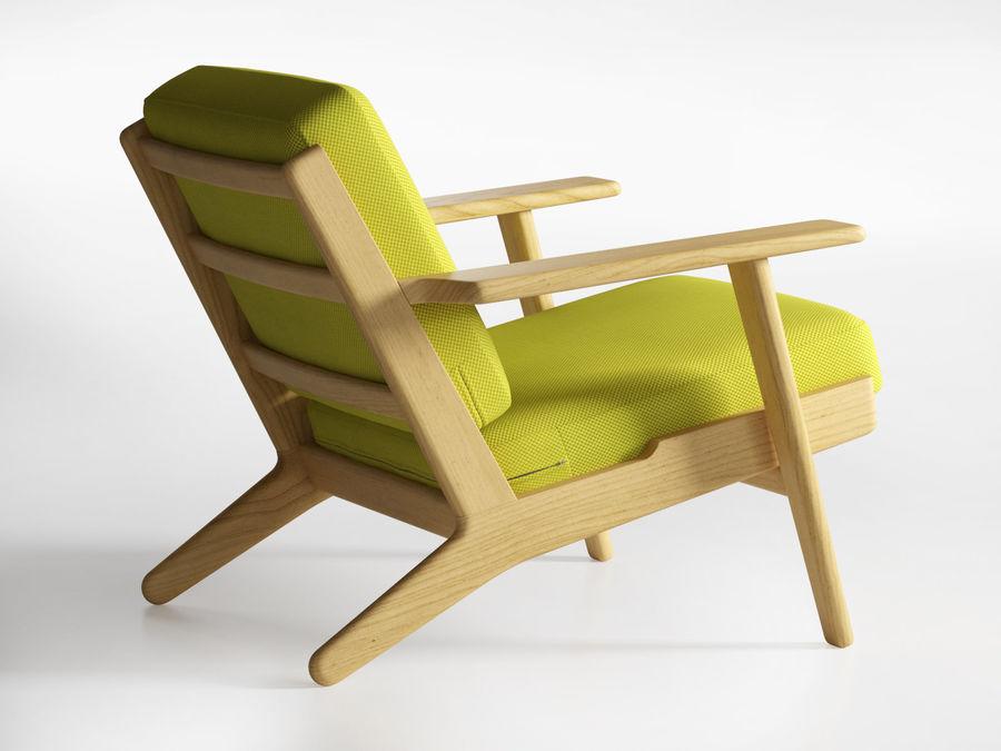 Cadeira de prancha de Hans Wegner royalty-free 3d model - Preview no. 5