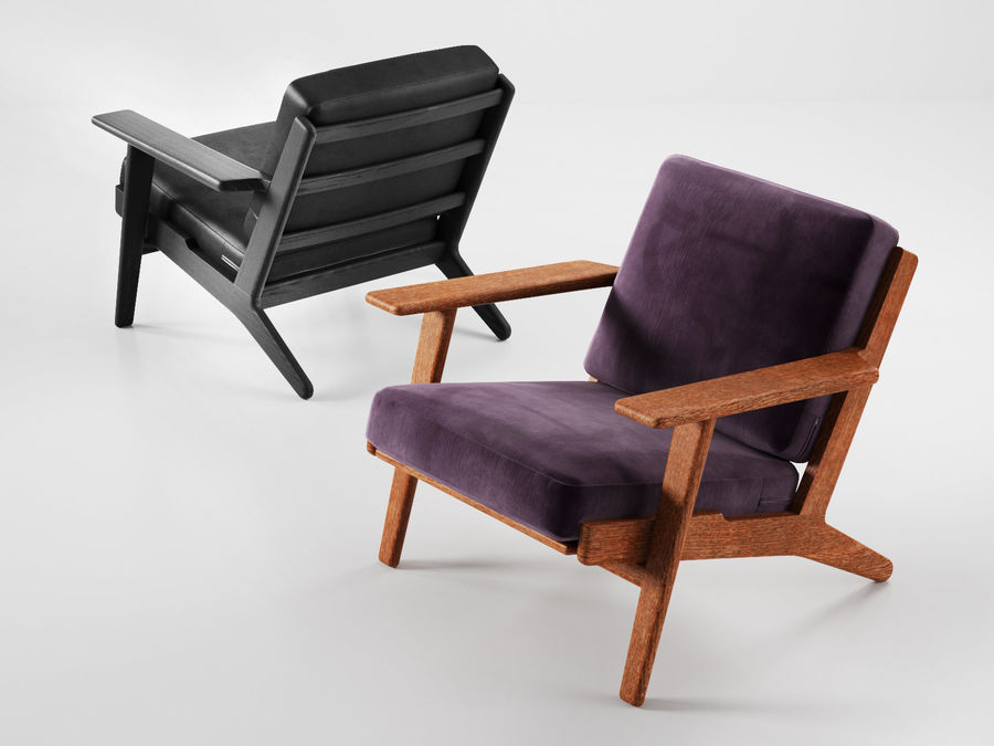 Cadeira de prancha de Hans Wegner royalty-free 3d model - Preview no. 4