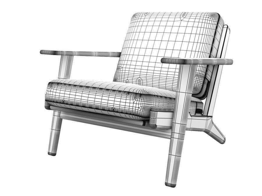 Cadeira de prancha de Hans Wegner royalty-free 3d model - Preview no. 7