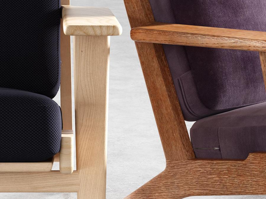 Cadeira de prancha de Hans Wegner royalty-free 3d model - Preview no. 6