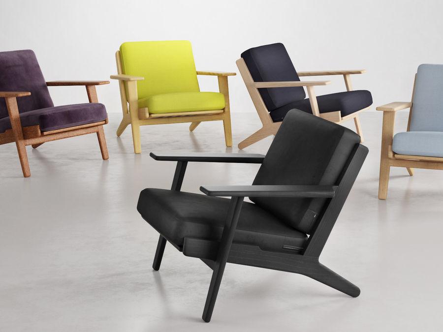 Cadeira de prancha de Hans Wegner royalty-free 3d model - Preview no. 2