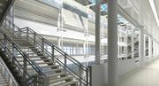 Espace pablique intérieur 3d model