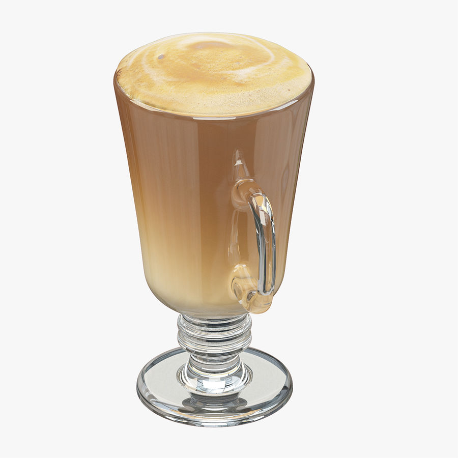 Cappuccino royalty-free 3d model - Preview no. 5