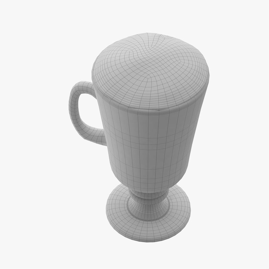 Cappuccino royalty-free 3d model - Preview no. 13