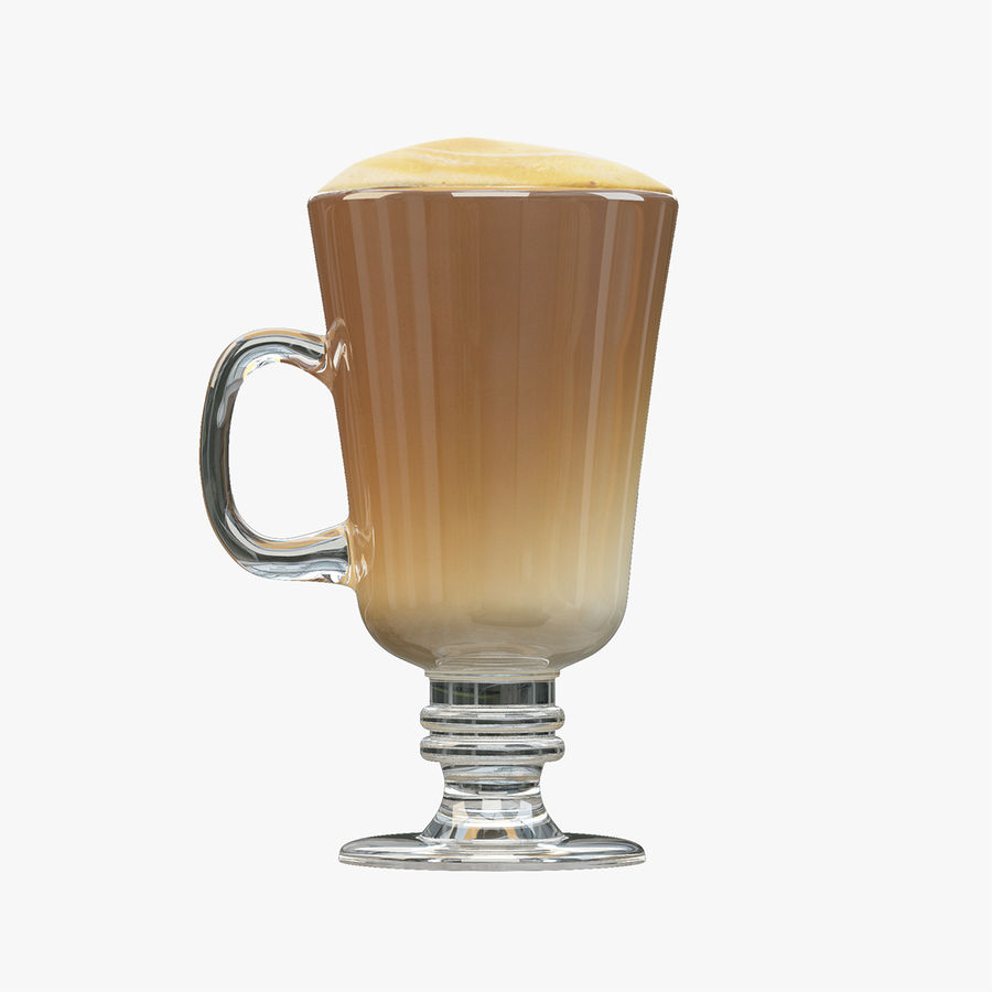 Cappuccino royalty-free 3d model - Preview no. 3
