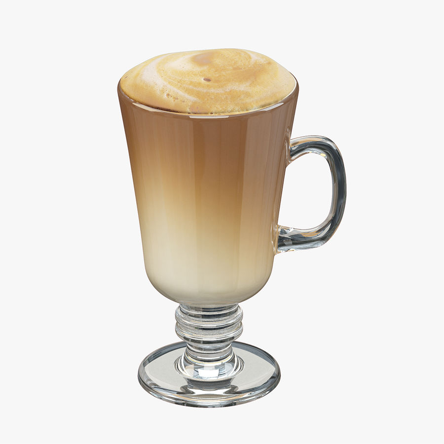 Cappuccino royalty-free 3d model - Preview no. 2