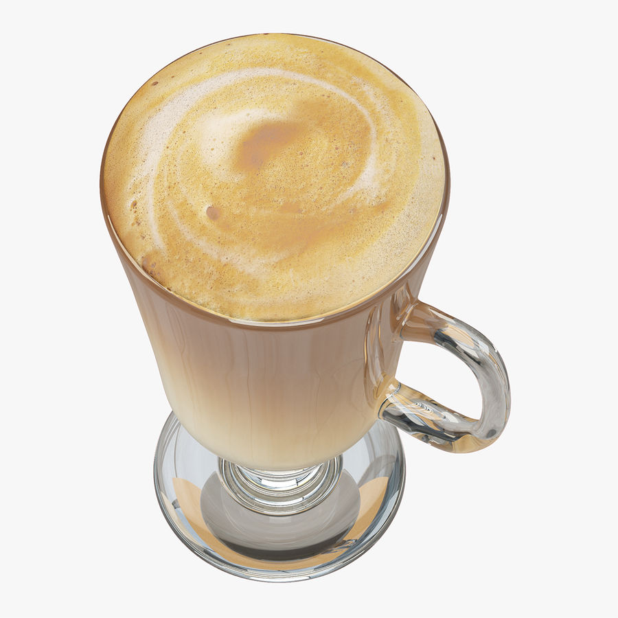 Cappuccino royalty-free 3d model - Preview no. 10