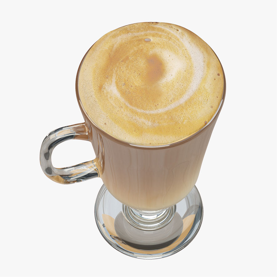 Cappuccino royalty-free 3d model - Preview no. 9