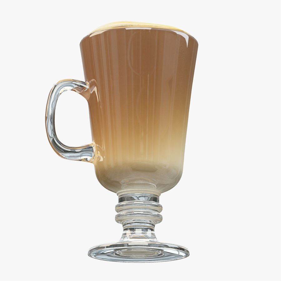 Cappuccino royalty-free 3d model - Preview no. 8