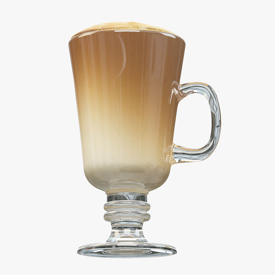 Cappuccino royalty-free 3d model - Preview no. 7