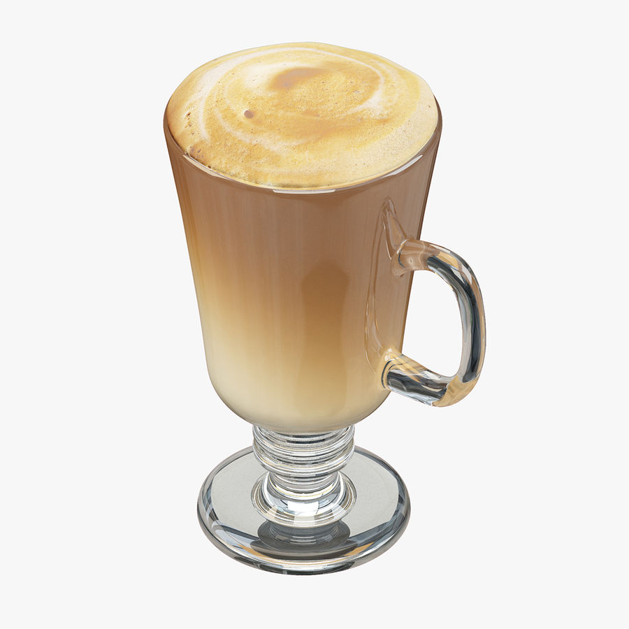 Cappuccino royalty-free 3d model - Preview no. 1