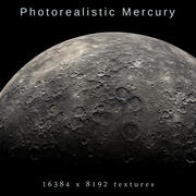 Photorealistic Mercury 16K textures 3d model