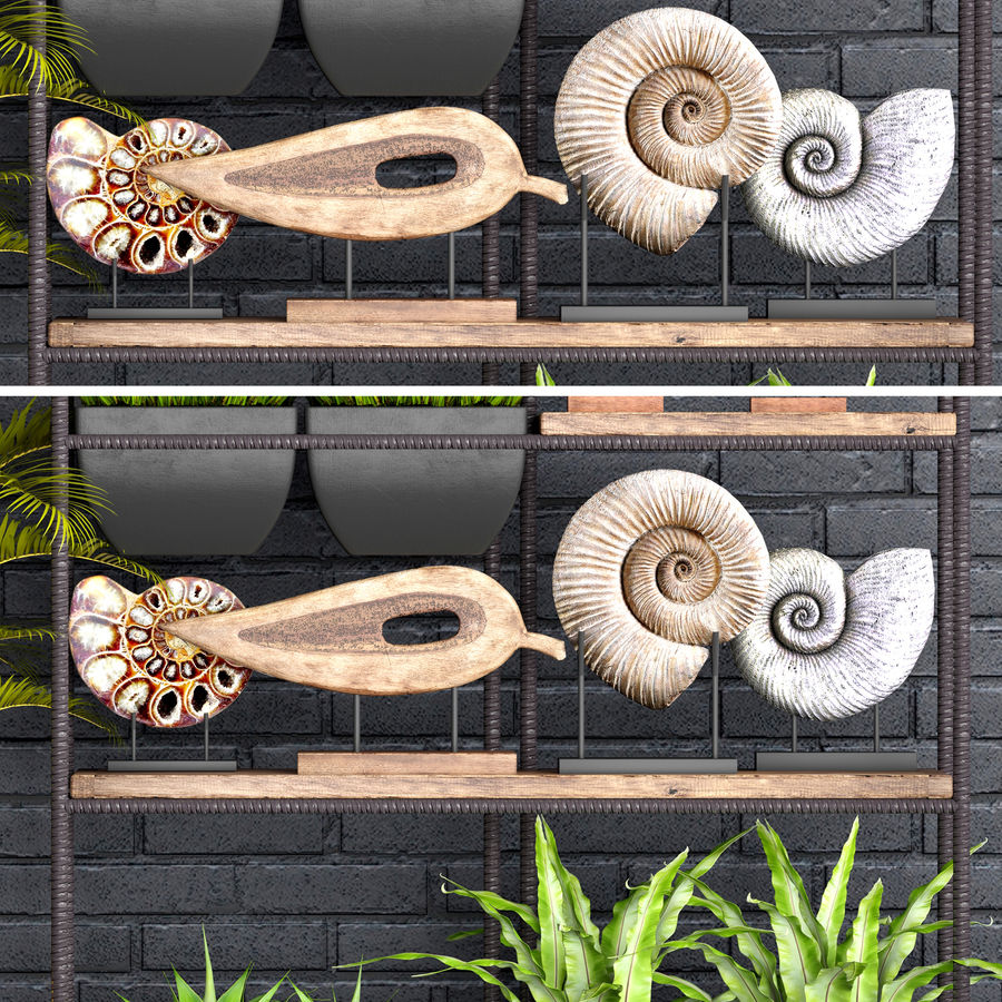 Decorative set royalty-free 3d model - Preview no. 12